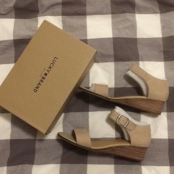 76fb295c79 Lucky Brand Shoes | Riamsee Sandal In Travertine | Poshmark